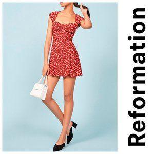 New REFORMATION Cheri Mini dress